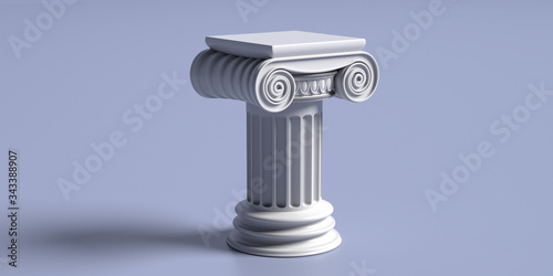 Marble pillar column classic greek against blue background Tapéta, Fotótapéta