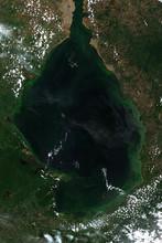 High Resolution Satellite Image Of Algae Bloom In Lago De Maracaibo, Venezuela - Contains Modified Copernicus Sentinel Data (2019)