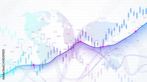 Leinwand Poster Stock market and exchange