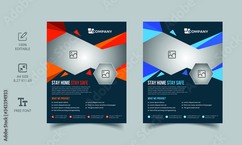 Fototapeta Professional quality  flyer template design obraz