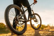 Man On Mountain Bike. Bicycle ...