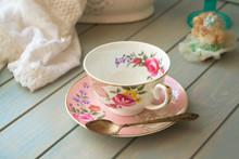 Pink Antique Porcelain Tea Cup...