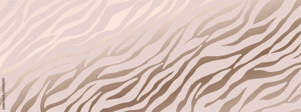Fototapeta Luxury animal skin background, Pink zebra skin pattern, pink tiger background vector illustration.