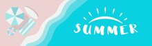 Summer Wide Vector Banner With...
