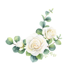 Watercolor Vector Bouquet With...
