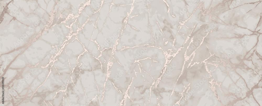 Fototapeta pink gold marble metallic luxury background