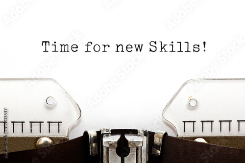 Cuadros en Lienzo Time For New Skills Typewriter Concept