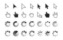 Pointer Icons. Hand Cursor Cli...