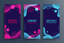 Set Of Flyers With Abstract Mo...