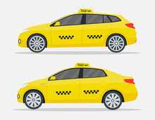 Taxi Cars. New Yellow Transpor...