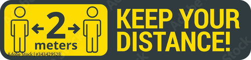 COVID-19 safety measure Keep safe social distance sign Fototapet