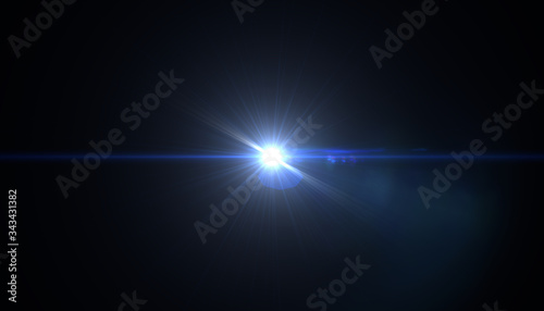 Fotomural Abstract sun burst with digital lens flare background