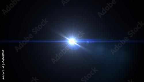 Fotografía Abstract sun burst with digital lens flare background