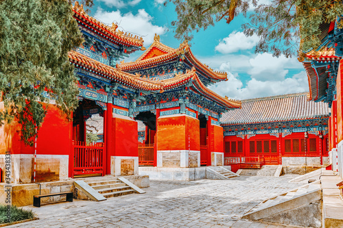 Temple of Confucius at Beijing is the second largest Confucian Temple in China Canvas-taulu