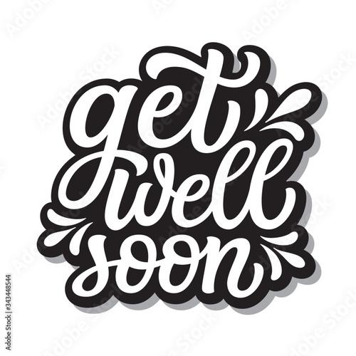 Fotografie, Tablou Get well soon lettering