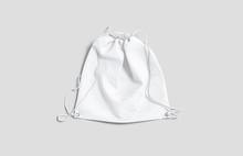 Blank White Drawstring Backpac...