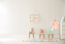 Cute Toys On Chairs With Bunny...