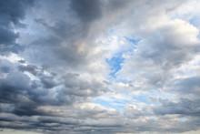 Stormy Sky With Storm Clouns O...