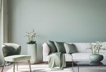 Living Room Interior Mock Up, ...
