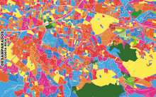 Desamparados, San José, Costa Rica, Colorful Vector Map
