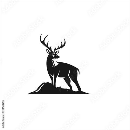 deer logo icon design vector