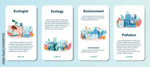 Valokuva Ecologist mobile application banner set