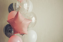 Balloons On A Light Background...