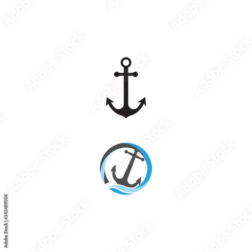 Anchor Logo Template vector symbol Canvas Print