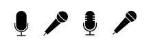 Microphone Icons Set. Mic Sign...