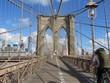 View Of Brooklyn Bridge Against Clear Sky