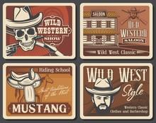 Wild West Vector Vintage Poste...