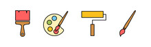 Paint Icons Set. Paint Brush V...