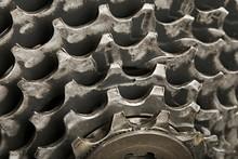 Closeup Of A Bicycle's Gear Set