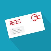 Past Due Bill Envelope Icon - ...