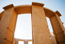 Detail Of Vrihat Samrat Yantra, The World's Largest Stone Sundial In Jantar Mantar, Jaipur, Rajasthan, India