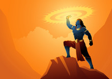 Lord Krishna Holding Sudarshan Chakra