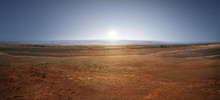 Sunset On Planet Mars. Scenic ...