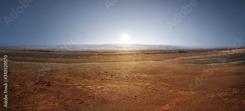 Fototapeta Sunset on planet Mars