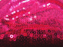 Full Frame Shot On Pink Sequin On Fabric