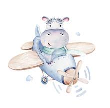 Watercolor Baby Cartoon Pilot ...