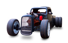 Custom American Hot Rod. White...