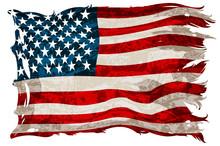 An Old, Shabby American Flag. ...