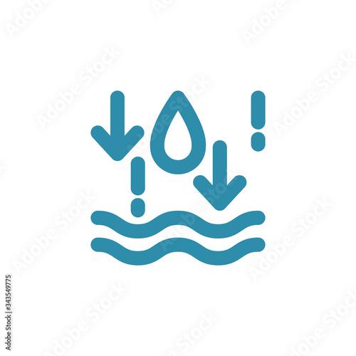 Photo Sign of moisture absorption