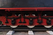 Retro Train. Wheels On Rails