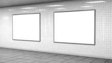 Blank Light Boxes On White Til...