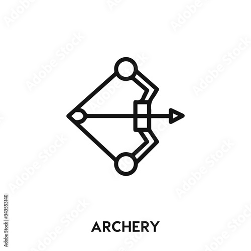 Photo archery icon vector. archery sign symbol