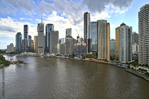 The skyline of Brisbane from the Story Bridge