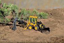 Diorama Maqueta Juguete Construcción Excavadora Amarilla