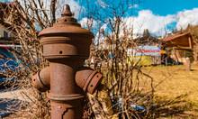 Beautiful Old Fire Hydrant Details Near Berchtesgaden, Bavaria, Germany
