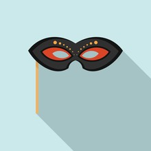 Masquerade Mask Icon. Flat Ill...